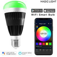 WiFi LED Light Bulb Lamp E27 80w Equivalent Dimmable Color Changing Lamp Homekit Compatible with Alexa Google Home Assistant