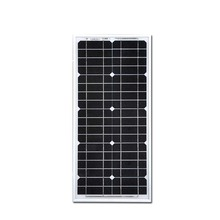 18v Panel Solar Panel 20W 12V Monocrystalline Energia Solar Fotovoltaica Solar Battery Panel  Pannelli FotovoltaiciSolar Module china factory price 12v 10w monocrystalline solar panel module for camping mini painel solar battery charger fotovoltaica