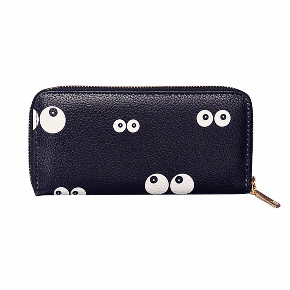Bags For Women 2018 Girls Wallet Girls Purse Small Pouch Coin Purse Women Printing Zipper Coin Purse Long Wallet