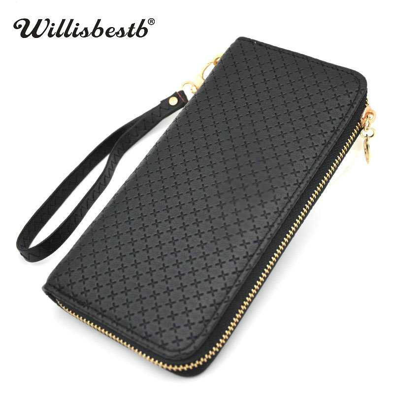2018 New Ladies Leather Purse Woman Wallet Long Zipper Designer Women Purses Female Wallets Clutch Card Holder Carteras Mujer new fashion women leather wallet deer head hasp clutch card holder purse zero wallet bag ladies casual long design wallets