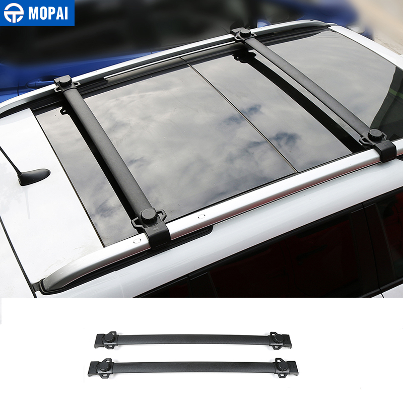 MOPAI Car Roof Rack Cross Bar Luggage Carrier Molding for Jeep Renegade 2015-2017 Exterior Accessories Car Styling car roof rack luggage carrier bar car accessories for renault captur 2014 2015
