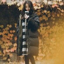2018 New Winter Coat Women Hooded Coat Thicken Warm Casual Black Long Winter Jacket Female Overcoat Parka Loose Jaqueta Feminina