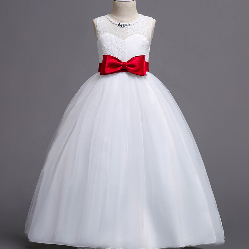b51a82310 Beautiful Princess White Dress For Baby Girls Teenager Kids – Dapper ...