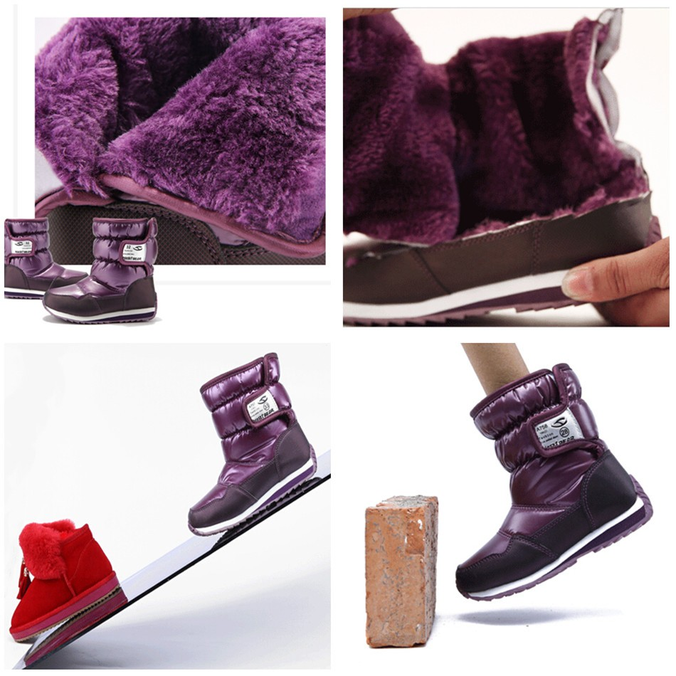 -30 degree Russia winter warm baby shoes , fashion Waterproof children's shoes , girls boys boots perfect for kids accessories 10
