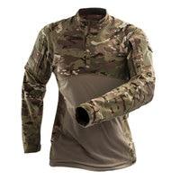 Военная Униформа Для мужчин s камуфляж тактический футболка, брендовая детская футболка с длинными рукавами хлопковые дышащие боевой Frog ру...