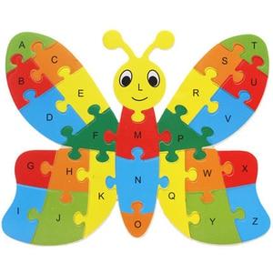 Image 4 - Jouet dintelligence, blocs de construction, lettres anglaises, puzzle animaux en bois, jouets éducatifs pour bébés, cadeaux pour enfants