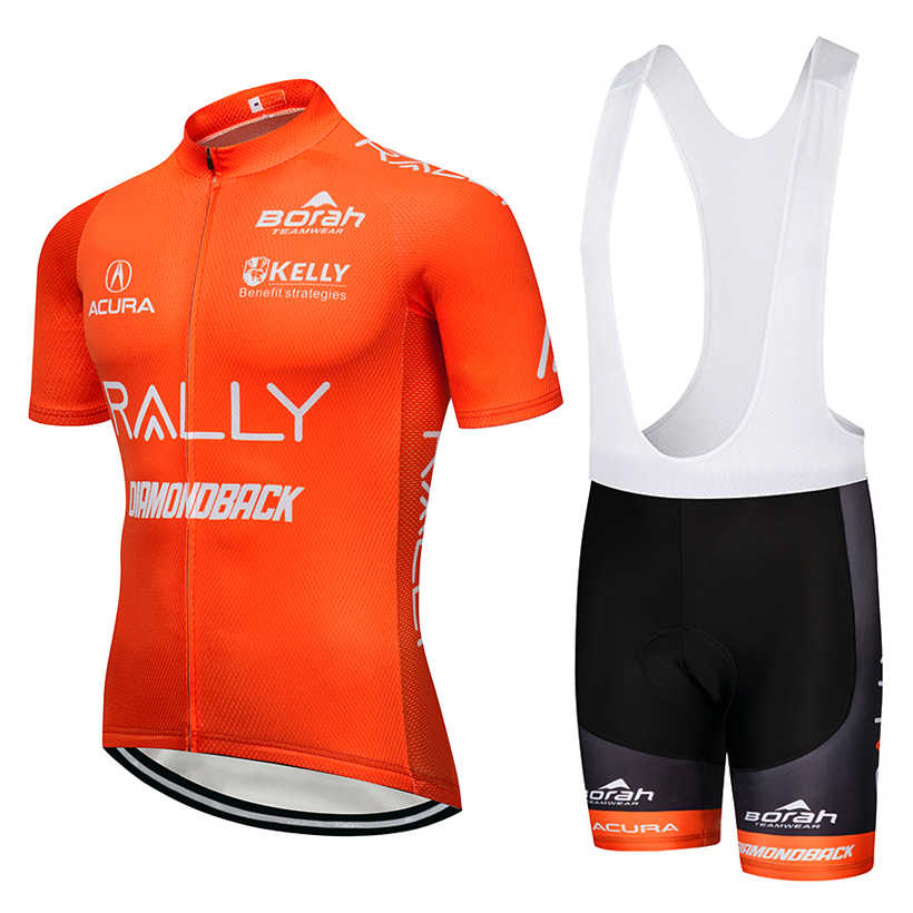 2019 TEAM Orange pro cycling jersey bibs shorts suit Ropa Ciclismo Mens summer quick dry BICYCLING Maillot wear