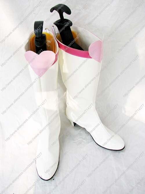 Free shipping Custom Cheap White Chibi font b Moon b font Shoes from font b Sailor