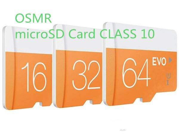 Wholesale Class 10 EVO 16g 32g 64g Micr SD Card MicroSD TF Memory Card C10 Flash SDHC SD Adapter SDXC White Orange(10pcs/1bag)
