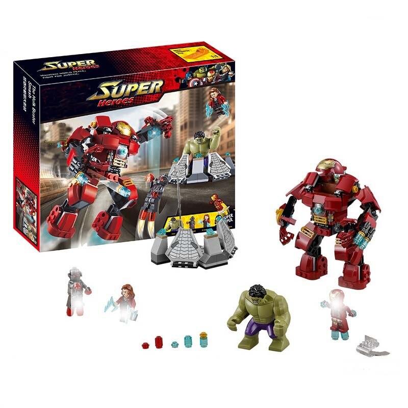 Decool 248 pcs Blocos Tijolos Brinquedos Hulkbuster APTO para Compatível sermoido Marvel Super Heroes 76031 Vingadores Hulk Ferro