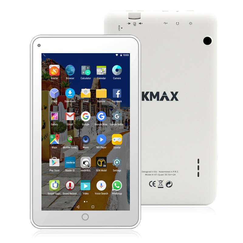 KMAX 7 inch Intel IPS Quad Core Android 5.1 Dual Cameras Bluetooth 4 G-sensor WIFI Tablet PC 1GB RAM 1024*600 Google Tablets tcbworth rc airplane lipo battery 6s 22 2v 5200mah 60c for rc quadrotor car boat drone akku li ion battery