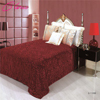 220 240CM Fashion Polyster Bedding Blanket Russian Shipping Luxurious Solid Color Bedspreads On Bed