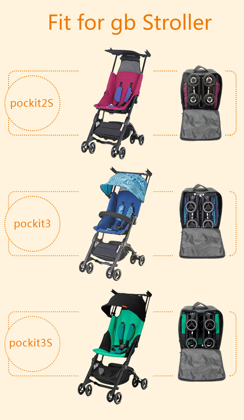 Travel Carry Storage Case Stroller Backpack Bag For GB Pockit 2S 3 3S 3C Pockit