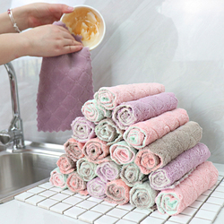 High-Efficiency Tableware Household Cleaning Towel Kitchen Tools Gadgets Super Absorbent Microfiber Kitchen Dish Cloth 1pc