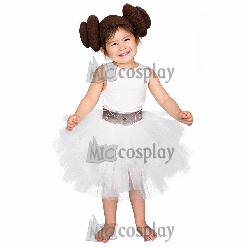 Child Halloween Cosplay Costume White Top Skirt