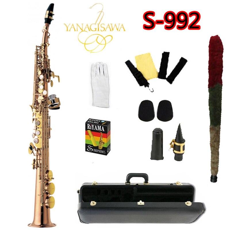 Nuovo S-992 YANAGISAWA Sassofono Soprano B flat professionalmente strumenti musicali sassofono Laccata Oro YANAGISAWA SAX