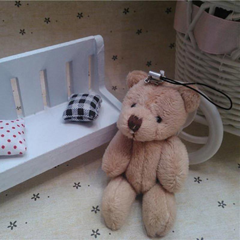 50pcs lot Kawaii Small Joint Teddy Bears Stuffed Plush With Chain 8CM Toy Teddy Bear Mini Bear Ted Bears Plush Toys Gifts 043 in Stuffed Plush Animals from Toys Hobbies