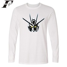 LUCKYFRIDAYF Gundam Long Sleeve T-shirt Japanese Cartoon MOBILE SUIT GUNDAM Hombre Shirt Printed Tops Game Super Robot Wars