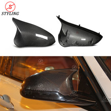 M3 M4 Side mirror cover For BMW F80 F82 F83 dry Carbon Fiber Rear Side View mirror cover LHD&RHD 2014 2015 2016 2017 2018 2019 carbon fiber side wing mirror covers for porsche panamera 970 2010 2014 2015 2016 add on style rear view mirror cover only lhd