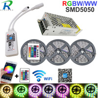 15M Wifi Strip RGB LED Strip light smd 5050 RGBW Waterproof Flexible Tape Diode Ribbon DC12V Power Set New Year Garland Christma
