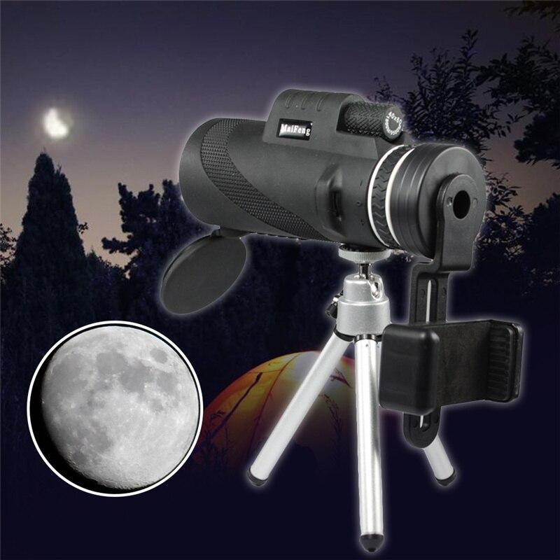 Monoculaire 40x60 Puissant Jumelles Qualité Zoom Télescope De Poche de Vision Nocturne Militaire Trépied pour Téléphone Mobile