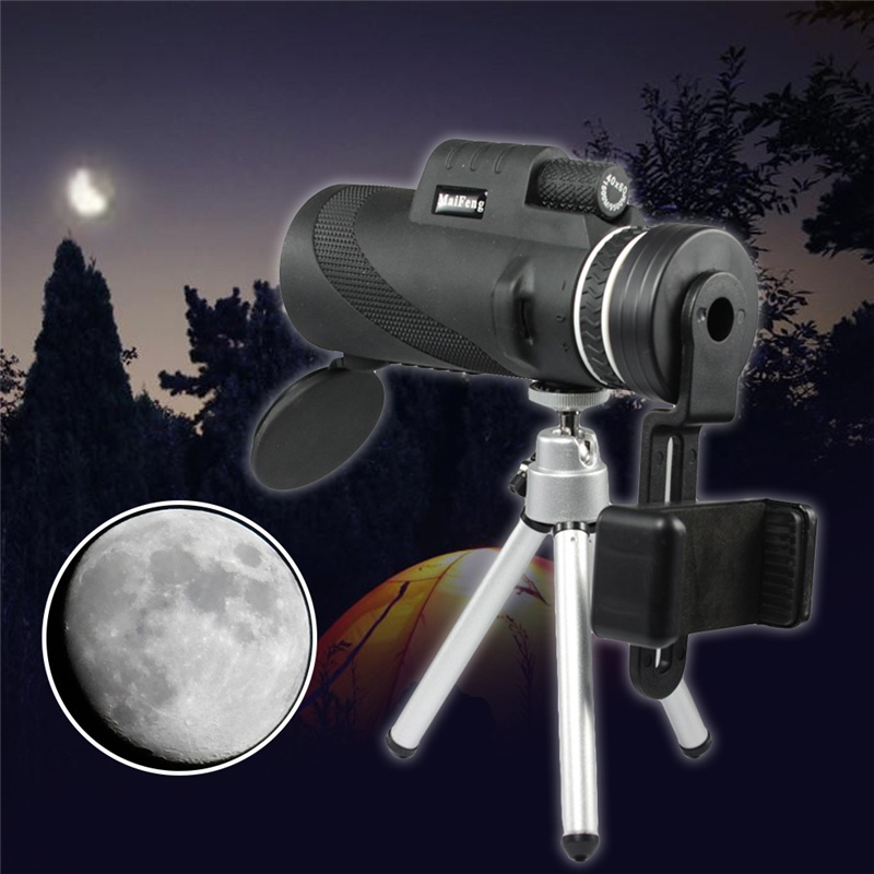 Monocular 40x60 Powerful Binoculars Quality Zoom Handheld Telescope Night Vision Military Tripod for Mobile Phone