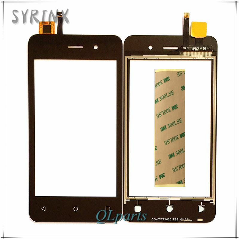 Syrinx With 3M Tape Mobile Phone Touch Panel For Fly FS405 Stratus FS 405 Touch Screen Digitizer Front Glass Sensor Touchscreen