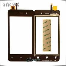 Сиринкс с 3 м ленты мобильный телефон с сенсорной панелью для Fly FS405 Stratus FS 405 сенсорный экран Переднее стекло датчик сенсорный экран