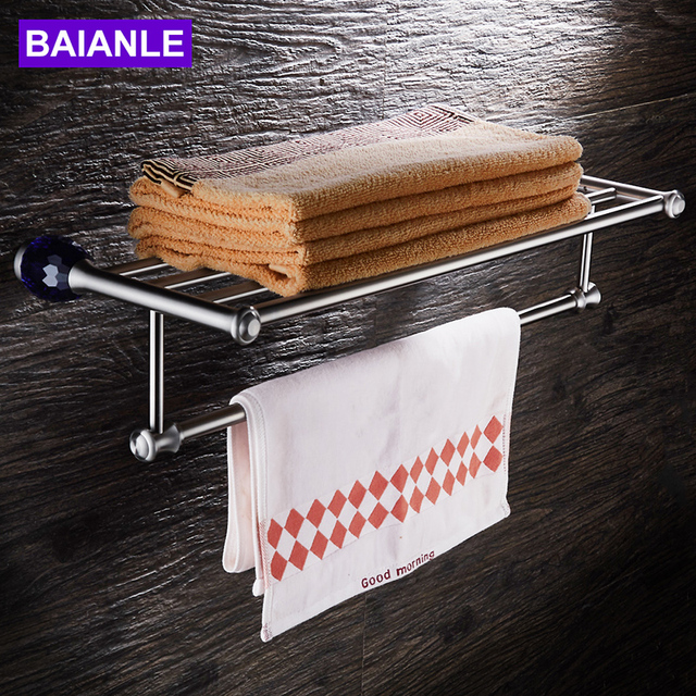 Baianle Handtuchhalter Wand Edelstahl 304 Handtuch Regal Badezimmer