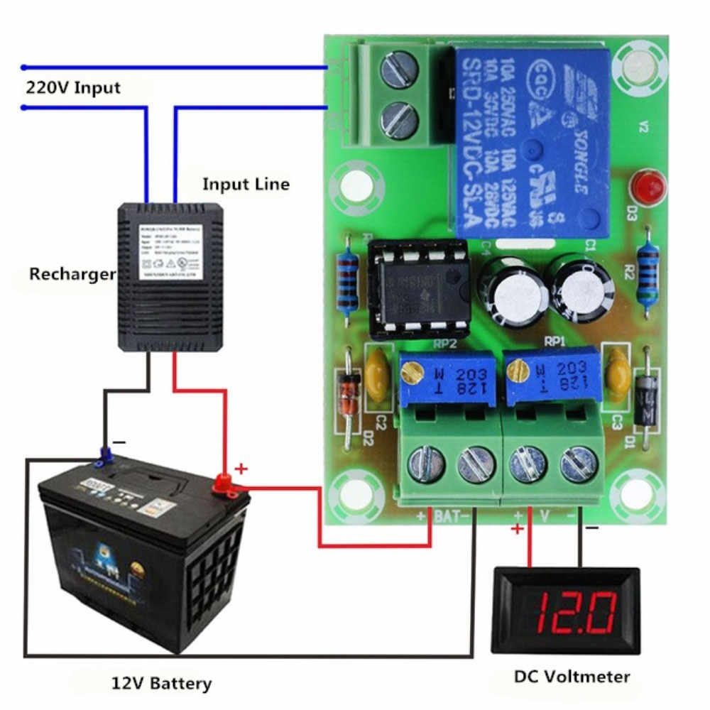12 V Batterie Lade Control Board XH-M601 Intelligente Ladegerät Power Control Panel Automatische Lade Power