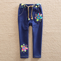 Flags Retail 2017 new style baby girl clothes cartoon flower pattern 100% cotton girls pants girls clothes K720