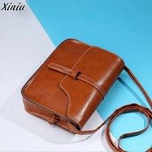 Повседневная сумка на плечо, простой дизайн, женская сумка через плечо, Винтажная сумочка, кожаная сумка через плечо, сумка-мессенджер