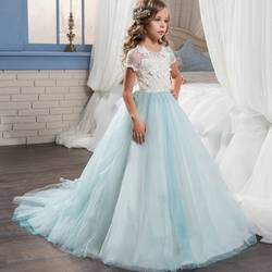 Платья для девочек, держащих букет невесты на свадьбе Нарядные платья для маленьких детское платье для выпускного вечера на Платья для