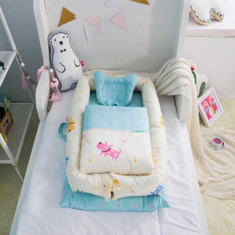 Berceau Portable léger multifonction bébé pour lit bébé chaise longue nouveau-né berceau respirant et nid de sommeil avec oreiller