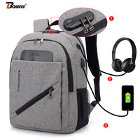 Casual men's antitheft backpack USB Large capacity Oxford school bag for teenage student bag pack for women back pack black 2019