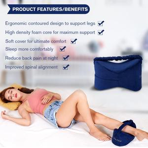 Image 2 - Memory Foam Knee Pillow Leg Cushions Side Sleeper Body Pillows Travel Under Knee Sleeping Gear Sciatica Pain Relief Back Support