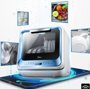 18 Free installation tabletop Free drilling mini WIFI smart dish washing machine home kitchen automatic dish cleaning machine