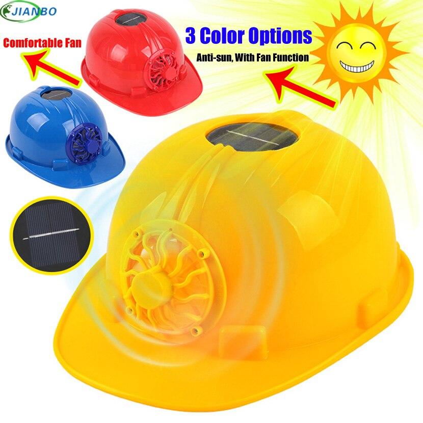 Casquette Travail Solar Fan Arbeit Helm Bau Arbeit Schutz Kappe Klare Anti-smashing Fan Hut In Helm Casque De Chantie Sicherheit & Schutz