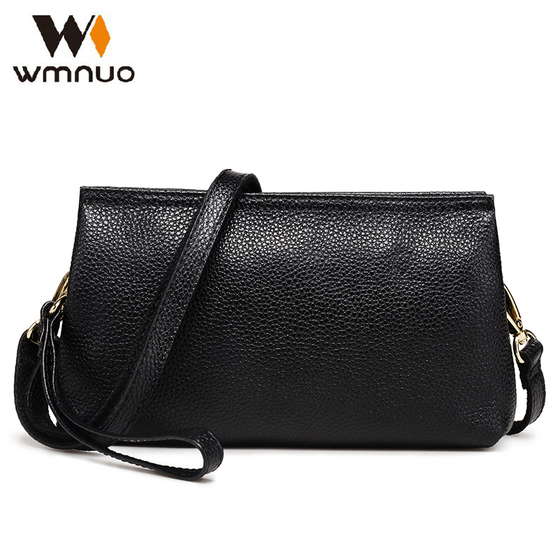 Wmnuo Brand Women Handbgs Small Bag Genuine Leather Women Shoulder Bag Soft Cowhide High Quality Ladies Messenger Evening Bag new brand genuine leather women bag fashion retro stitching serpentine quality women shoulder messenger cowhide tassel small bag