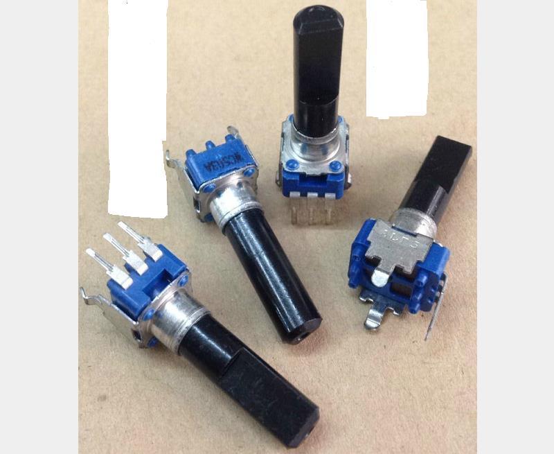 Potentiomètre de type alpine RK09 | 5 pièces, longueur de l'arbre A50K 23MM, avec une marche dans le manche, potentiomètre de volume