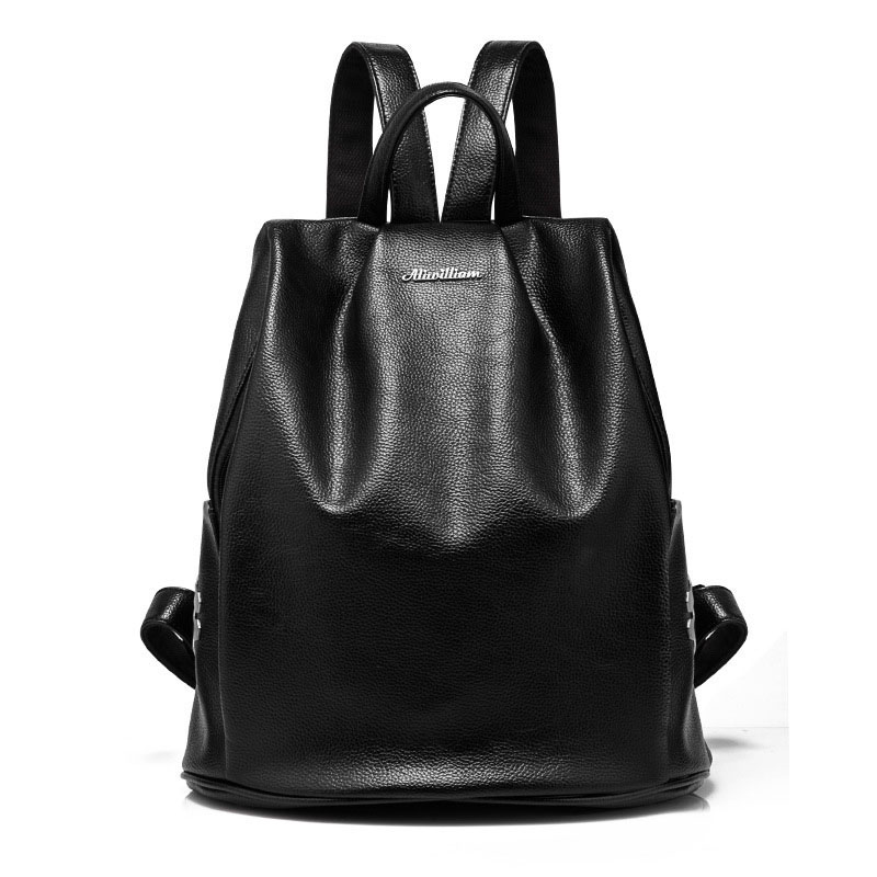 Women 2017 Casual Large Backpacks Ladies Girl Designer High Quality PU Leather Backpack Brand Fashion Black