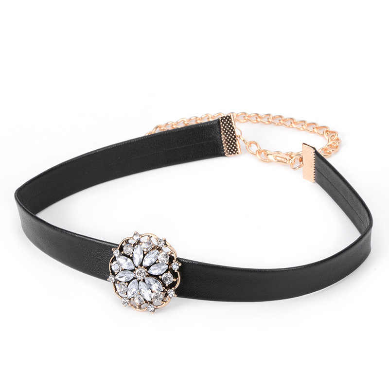 新ファッション合金革花のネックレスチョーカーネックレスステートメントネックレス首輪チョーカーの宝石