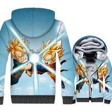 Funny Sweatshirts For Men Jackets 2018 Autumn Winter Zipper Coats Hooded Hoody Fashion Dragon Ball Z Anime 3D Hoodies Male Coat