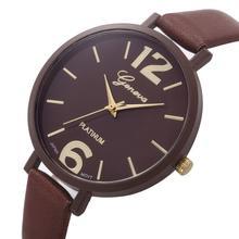 Women Bracelet Watch Famous brand Ladies Faux Leather Analog Quartz Wrist Watch