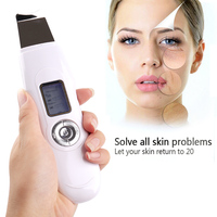 Portable LCD Mini Facial Ultrasonic Face Massager Ion Skin Scrubber Peeling Facial Cleaner Massager