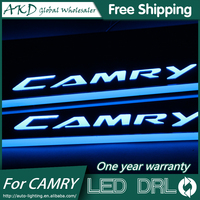 AKD Car Styling For Toyota Camry LED Moving Door Scuff Pedal Door Step Light Welcome Pedal