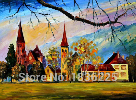 Best Price and Quality Skillful Artists Handmade Village Scenery landscape painting oil Painting on Canvas for Hotel DecorationBest Price and Quality Skillful Artists Handmade Village Scenery landscape painting oil Painting on Canvas for Hotel Decoration