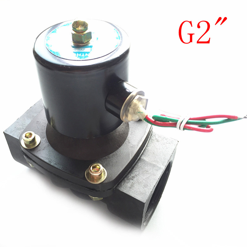 Free Shipping 2 Solenoid valve water valve N/C 2 way Air Oil gas 2W500-50 AC220V electromagnetic valve 2way2position 3 8 electric solenoid valve n c gas water air 2w160 10