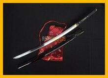100% Full Tang Sharp Hand Forged Cut Bamboo Musashi T10 1095 Spring Steel Real Japanese Samurai Katana Japan Ninja Sword #218