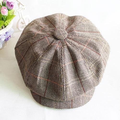 Male fashion octagonal cap newsboy cap beret hats